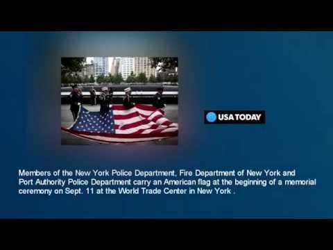 Lower Manhattan, the world mark 9/11 anniversary