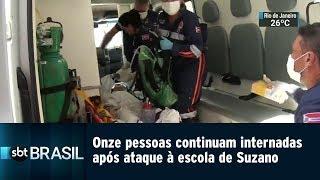 Onze pessoas continuam internadas após ataque à escola de Suzano | SBT Brasil (13/03/19)