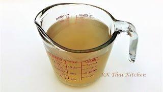 น้ำซุปกระดูกหมู (สำหรับทำข้าวต้ม แกงจืด และอื่นๆ) Pork Broth (Pork Stock) | Thai Food