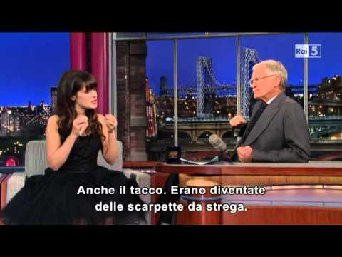 Zooey Deschanel @ David Letterman Show 07/05/13 SUB ITA