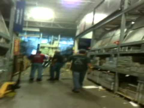 Tornado footage from inside Lowe's in Sanford NC
