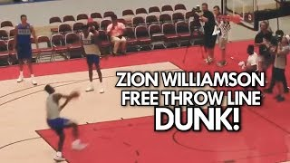 ZION WILLIAMSON DUNKS from BEHIND THE FREE THROW LINE (4 Angles)