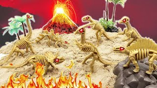 Dinosaurs disappeared because of volcanic eruption. Dinosaur Skeleton Toys For Kids