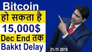 Bitcoin    15000 December End   Bakkt Delay  Live