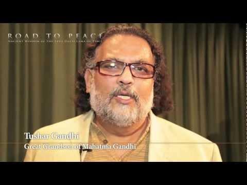 Tushar Gandhi's reaction to watching DALAI LAMA film ROAD TO PEACE