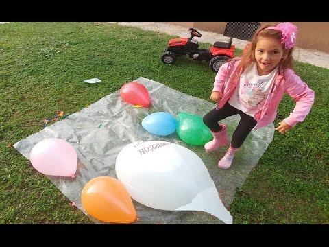Dev balona su doldurduk, çok eğlendik, çocuk videosu