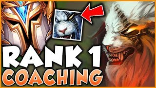 RANK 1 JUNGLER NA COACHES LOW ELO RENGAR | HIGH LEVEL COACHING (Live/Vod Review) - League of Legends