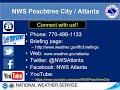 NWS Atlanta Weekly Weather Briefing for November 24, 2020