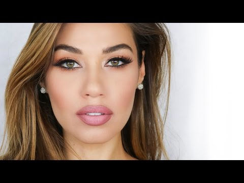 Matte Lip & Lashes Makeup Tutorial   Laura Badura Makeup   Eman