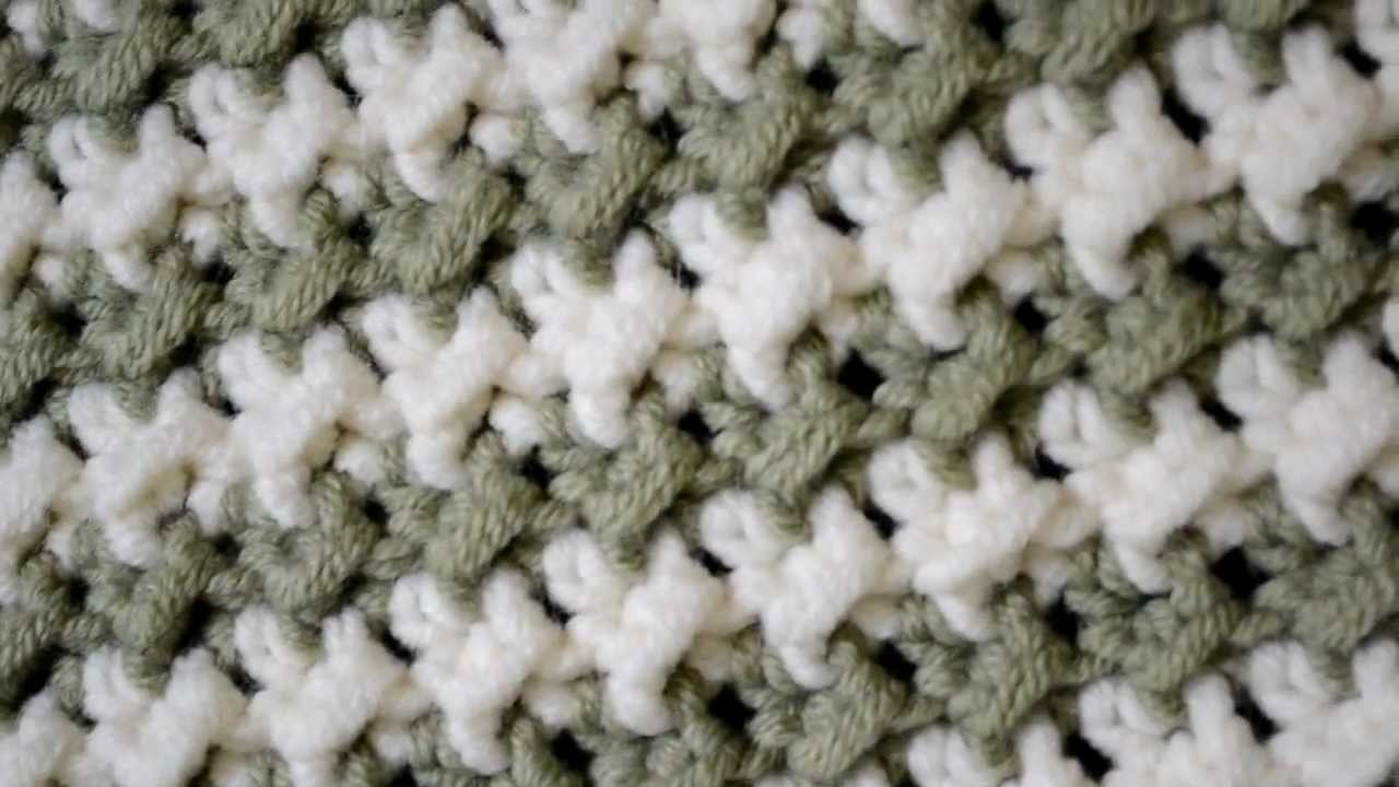 Free Crochet Pattern For Moss Stitch Afghan : Blanket I made using the Moss Stitch - YouTube