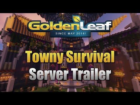 Minecraft Survival Server 1.12.2 Official Trailer - Goldenleaf Towny Server