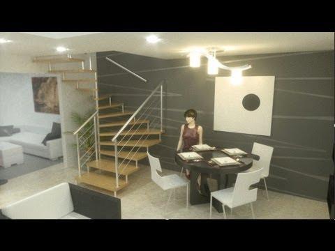 Casa moderna econ mica interiores alamos 5 00m x 11 00m for Casa moderna economica