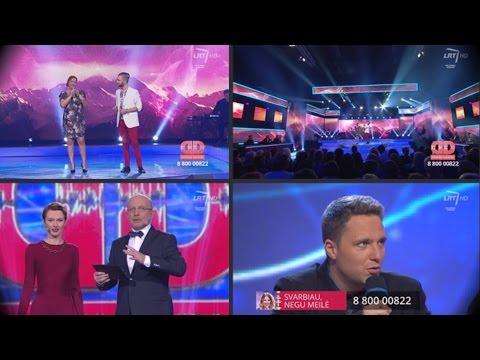 """""""Dainų daina"""" @ Vudis ir Gintarė Karaliūnaitė sudainavo kūrinį """"Svarbiau negu meilė"""" (Pusfinalis) HD"""