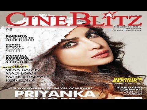 Priyanka Chopra Sizzles On Cineblitz Cover 2015 Photo Image Pic