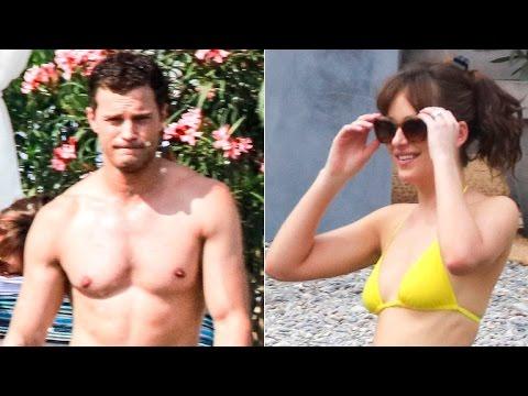 'Fifty Shades' of Sexy! Dakota Johnson and Jamie Dornan Hit the Beach: See the Pics!