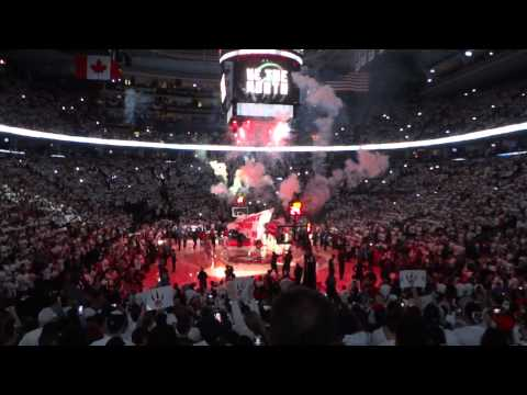 Playoff Atmosphere: Toronto Raptors Game 5 Player Introduction