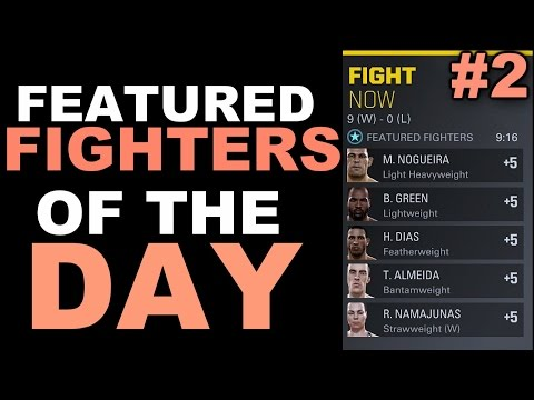 EA Sports UFC 2 Online Ranked Match Plus Live Commentary - Featured Fighters Of The Day #2