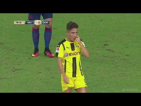Emre Mor (Debut for Dortmund) vs Manchester United 2016/17 HD