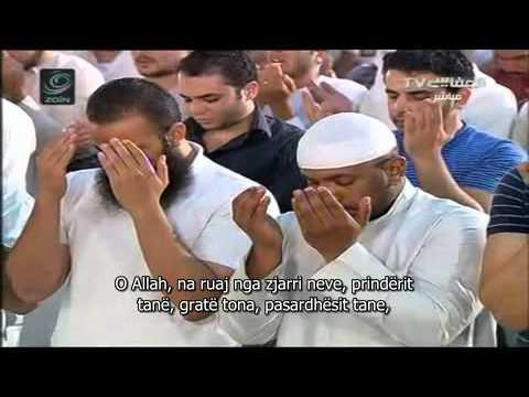 Duaja e Kunutit e titruar shqip! Mishary  Rashid el Afasy