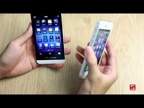 BB Z10 vs iPhone 5: So sánh thiết kế. màn hình.... - CellphoneS