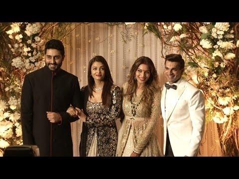 Amitabh Bachchan, Abhishek Bachchan & Aishwarya Rai Bachchan grace Bipasha & Karan's reception |