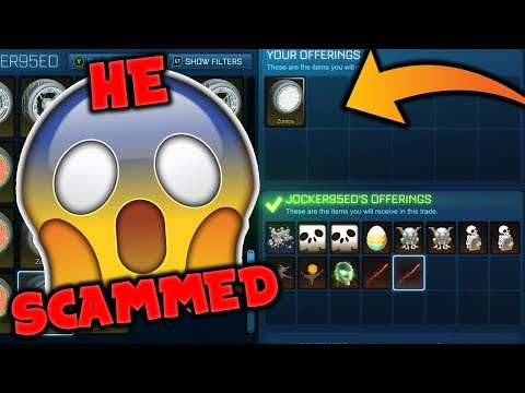Will They Scam Me? - Overpaying With Titanium White Zombas... (Rocket League Social Experiment)