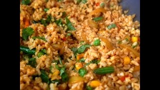 My Shortcut Desi fried rice (veg) recipe (Quick and easy vegetarian Rice recipe)