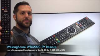 WESTINGHOUSE DIGITAL WD65NC TV Remote Control - www.ReplacementRemotes.com