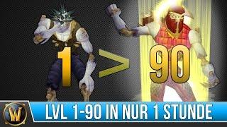 Level 1-90 in nur einer Stunde?! - [WoW] - [Deutsch]
