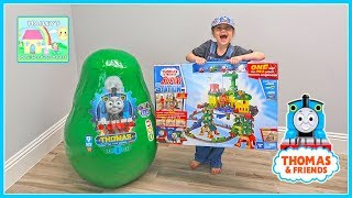 Giant Thomas & Friends Egg Surprise Toys Opening w/ Super Station!