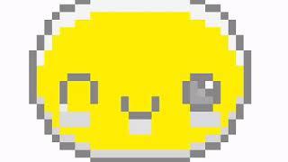 Speed art pixelated winky face emoji