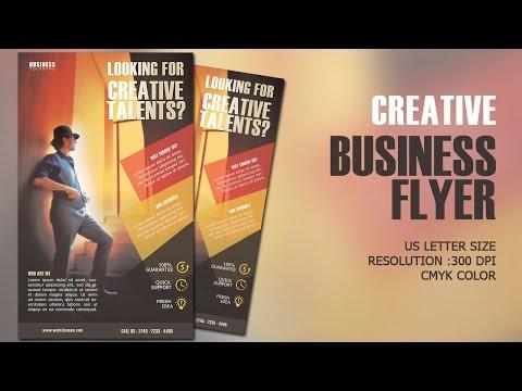 Design Creative Business Flyer CMYK Photoshop Tutorial