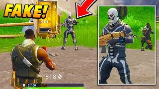 I followed a PRO PLAYER around as a FAKE DEFAULT for the entire game.. (Fortnite Battle Royale)