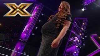 Download Lagu Pregnant woman sings Whitney Houston «I have nothing». The X Factor - TOP 100 Gratis STAFABAND