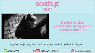 LIRIK 2NE1 - GOODBYE [MV & EASY LYRIC ROM+INDO]