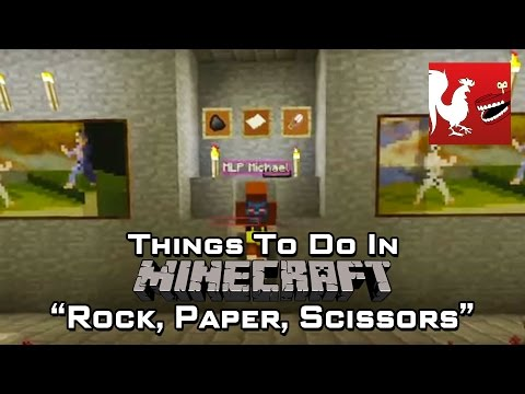 Things to do in Minecraft - Rock, Paper, Scissors