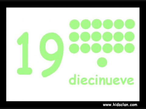 Números 1-20. Spanish Flashcards. KIDSCLAN.COM