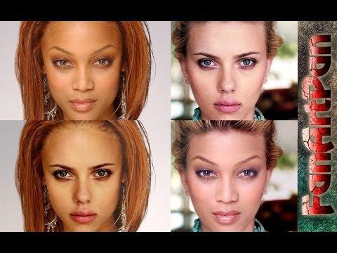 Как в фотошопе поменять цвет волос в брюнетку