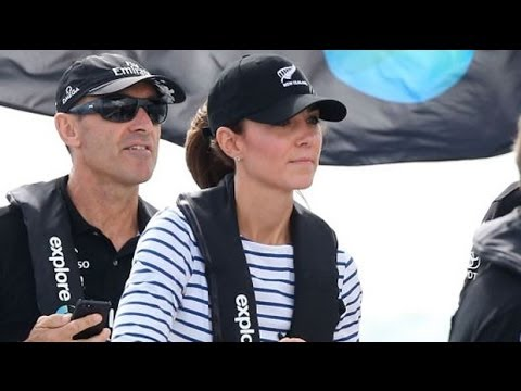 Royal tour: Duke and Duchess of Cambridge compete against each other in yacht race