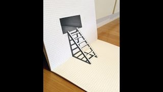 Trick Art Optical illusion-3d stairs speed drawing