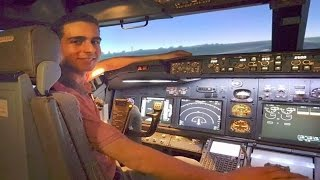 Can a FLIGHT SIMMER land a Boeing 737 FSTD? FIRST Takeoff & Landing in FULL MOTION Flight Simulator!