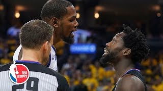 Kevin Durant, Patrick Beverley ejected after Game 1 drama | NBA Highlights