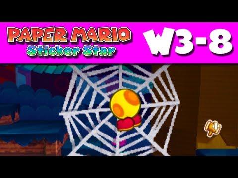 Paper Mario Sticker Star - W3-8 - Tree Branch Trail (Nintendo 3DS Gameplay Walkthrough)
