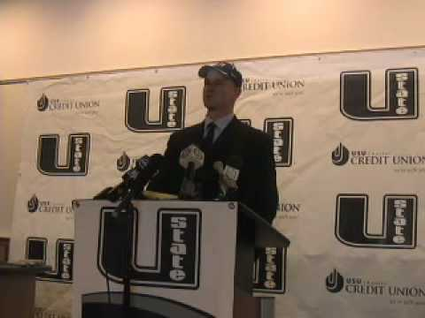 Utah State University new head coach Gary Andersen Video