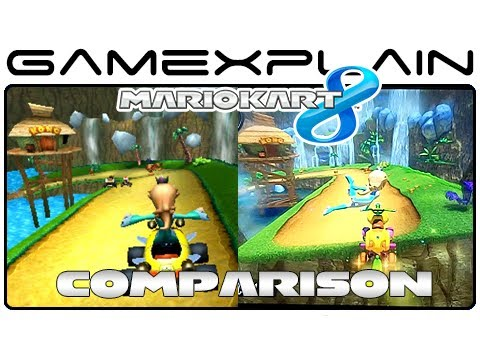 mario kart 8 dk jungle 3ds head to head comparison wii u vs 3ds youtube. Black Bedroom Furniture Sets. Home Design Ideas