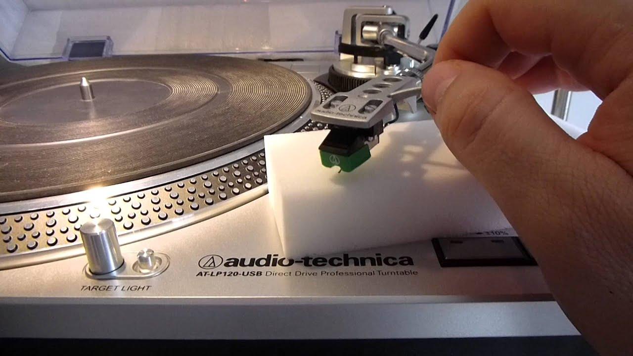 Cleaning Turntable Needle With Magic Sponge Magic Eraser