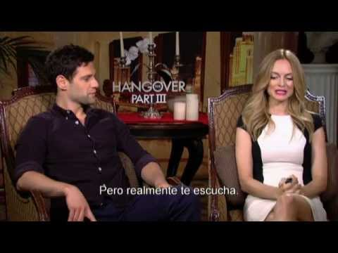 ¿QUÉ PASÓ AYER? PARTE III - Entrevista Justin Bartha & Heather Graham Actores - Of. WB
