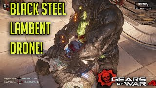 """Black Steel Lambent Drone"" Swarm Character - Gears Of War 4 Multiplayer Gameplay!"