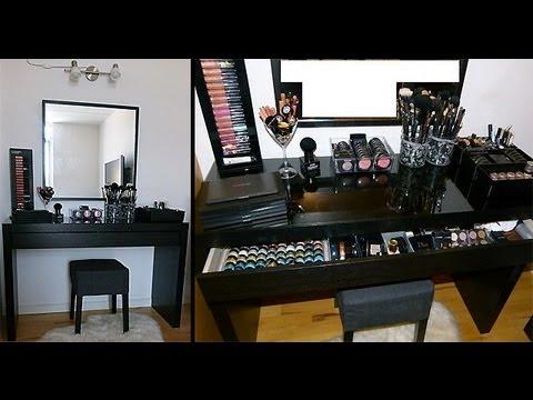 Ikea Malm Vanity Makeup Table Organization Storage