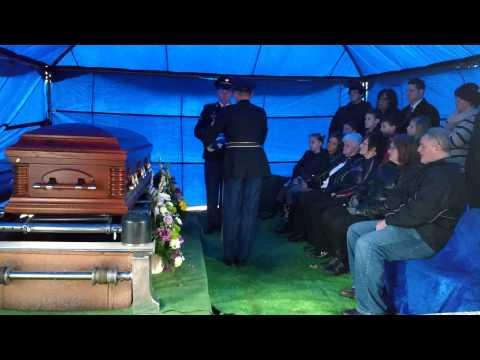 Grandpa Bill Owens Funeral. Army Flag Fold